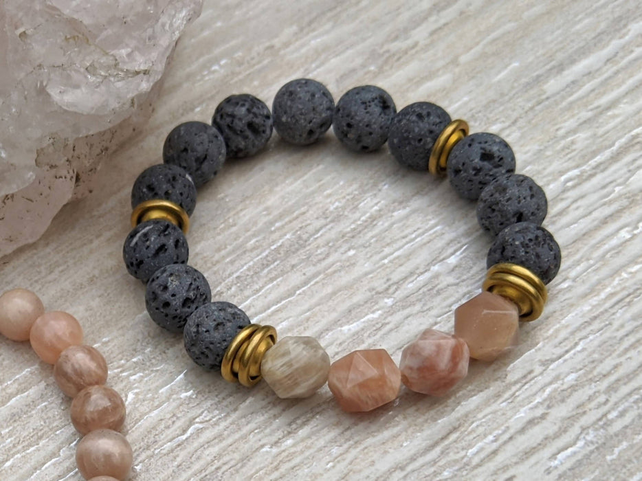 SUNSTONE LOVERS STACK Bracelet Set / Essential Oil Diffuser - Shop HamOnt
