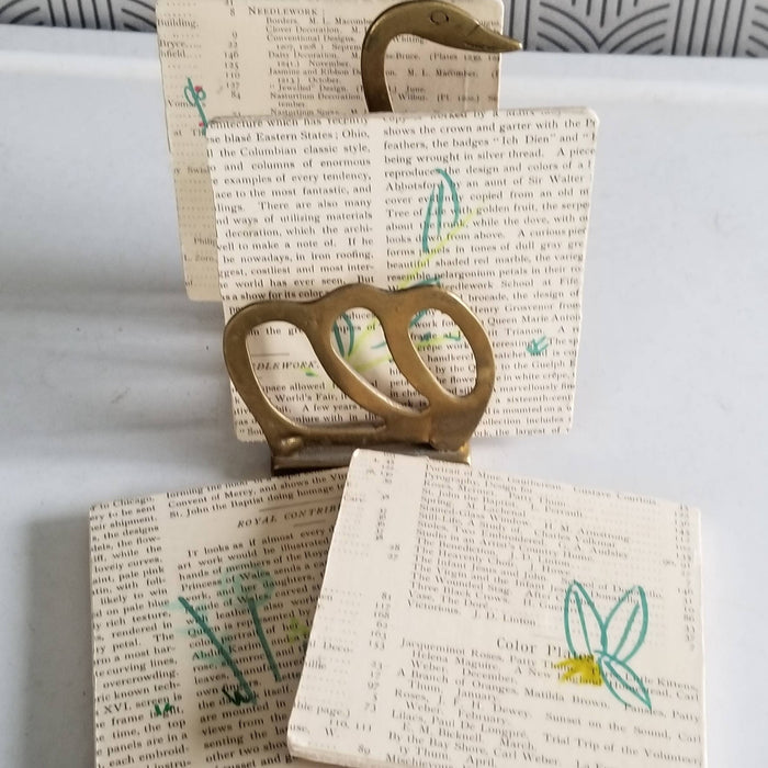Collage Coasters - plant doodles - Bought It Local