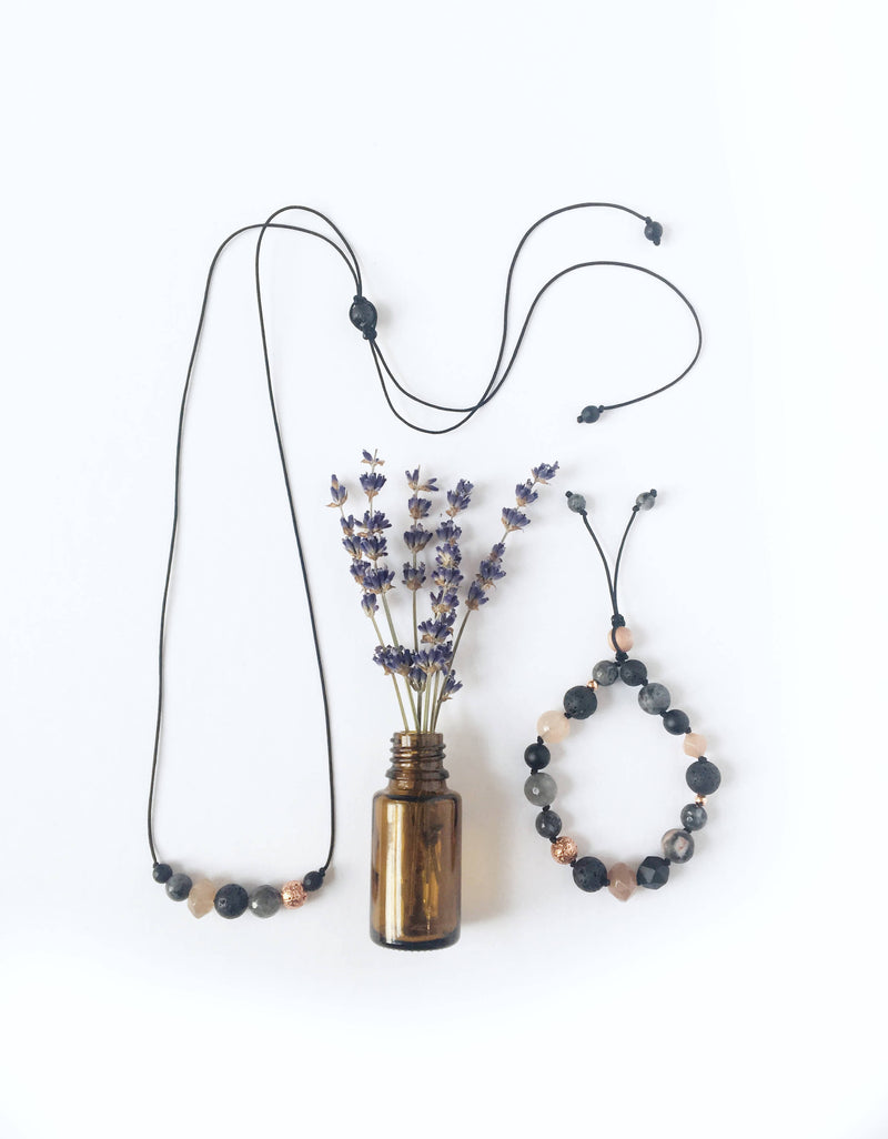 """Pleasantly Peach"" Diffuser Necklace"