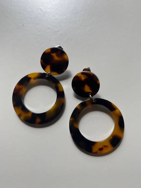 tortoiseshell Earrings - Shop HamOnt