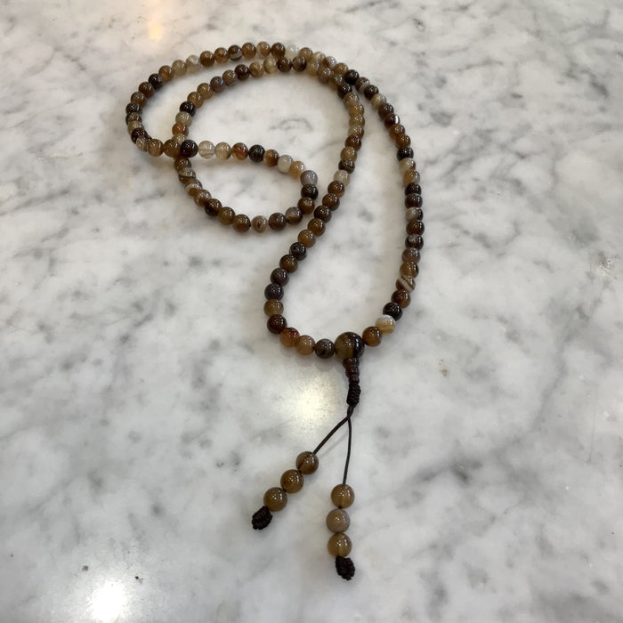 Brown Agate Meditation Mala - Shop HamOnt