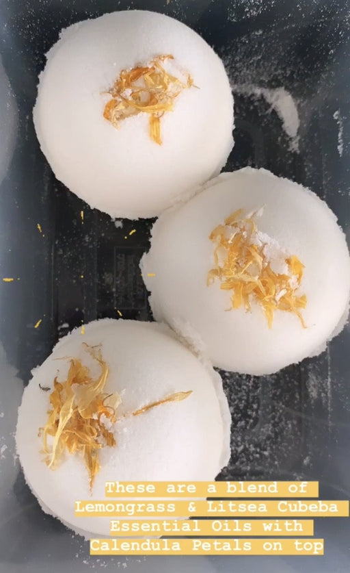 Lemongrass + Calendula Bath Bomb - Shop HamOnt