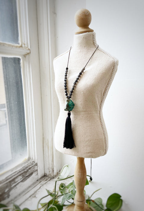Natural Turquoise & Labradorite Necklace - Shop HamOnt