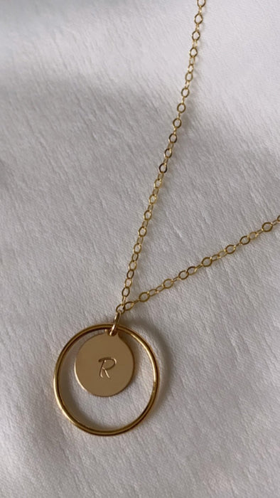 Initial Necklace - Shop HamOnt