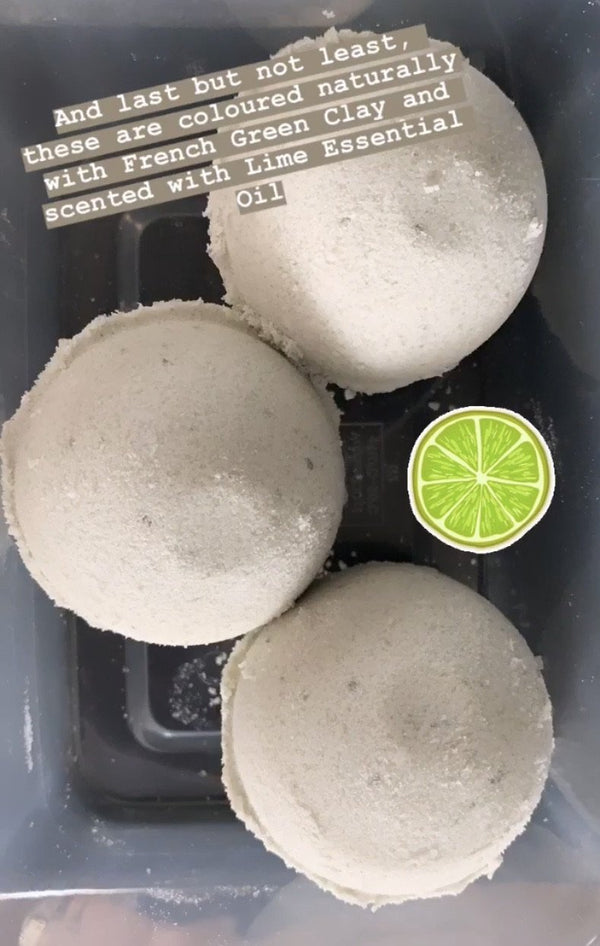 Lime + French Green Clay Bath Bomb - Shop HamOnt