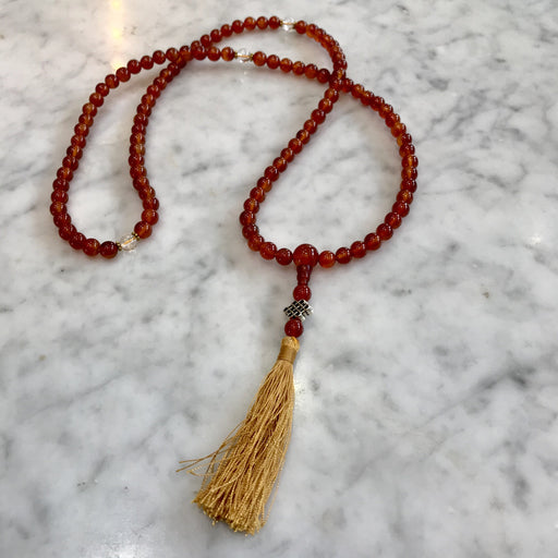 Carnelian And Crystal Meditation Mala - Shop HamOnt