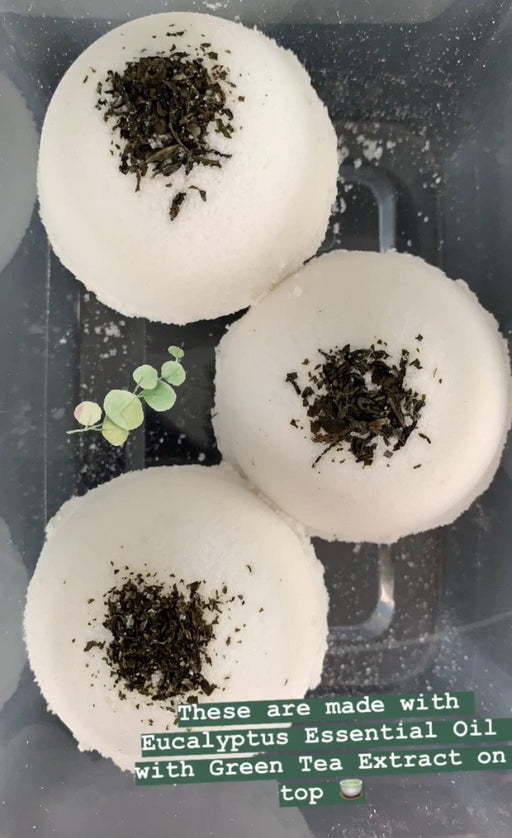 Eucalyptus + Green Tea Bath Bomb - Shop HamOnt