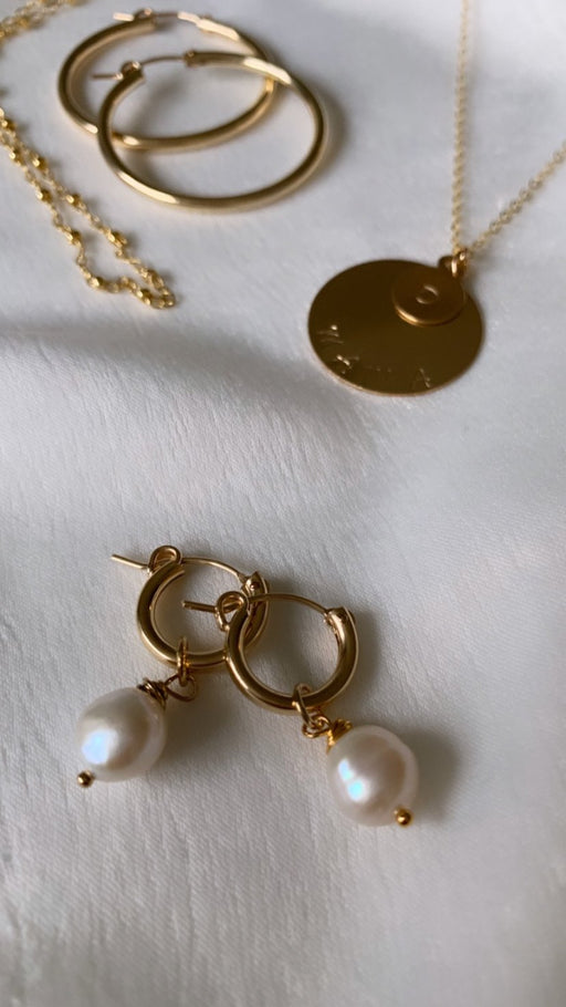 Golden Honey Hoops with Pendant - Shop HamOnt