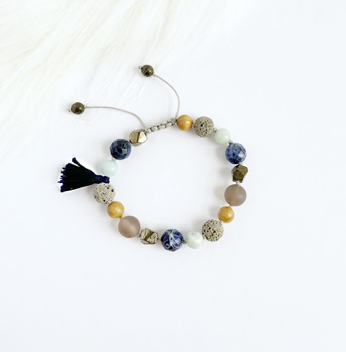 Blue Sodalite with Silk Tassel - Shop HamOnt