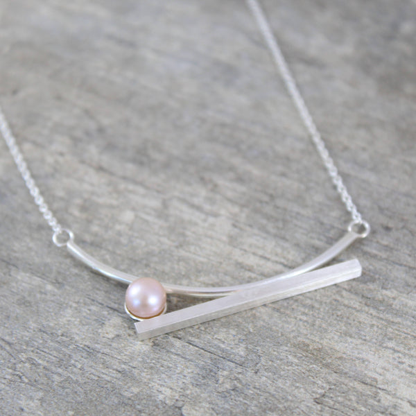 Rose Pearl Statement Necklace
