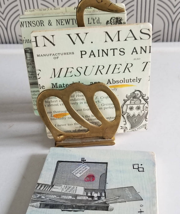 Collage Coasters - Vintage Text Art Supplies - Bought It Local