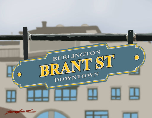 Brant St - Burlington Print - Shop HamOnt
