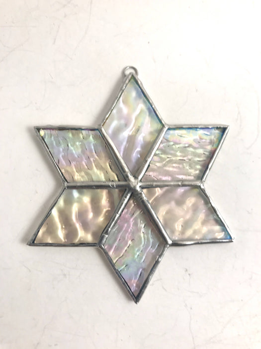 Stained Glass Iridescent Christmas Star - Bought It Local