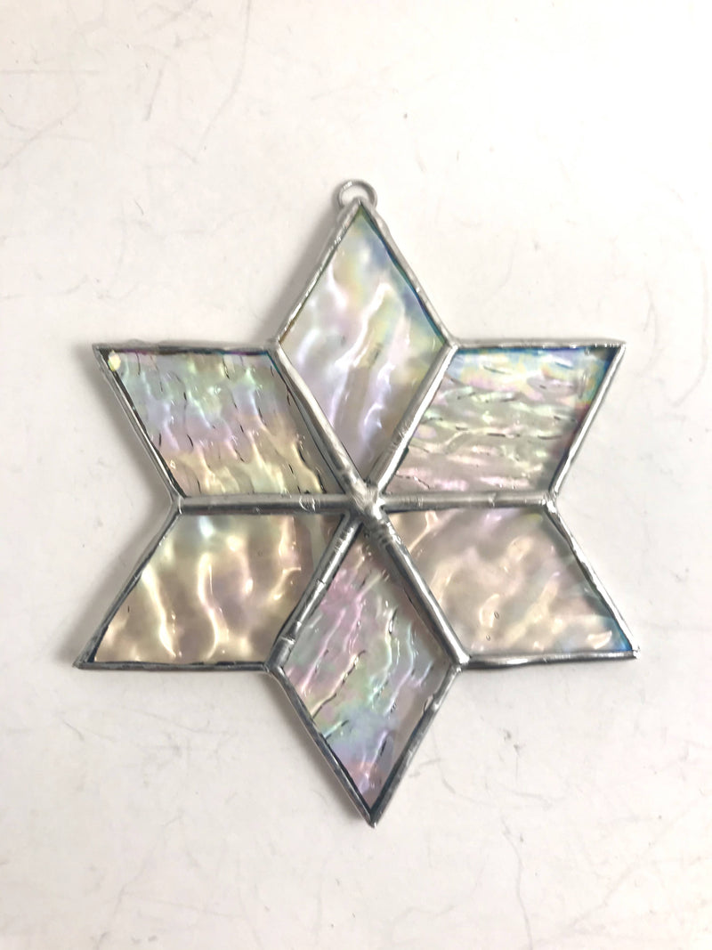 Stained Glass Iridescent Christmas Star