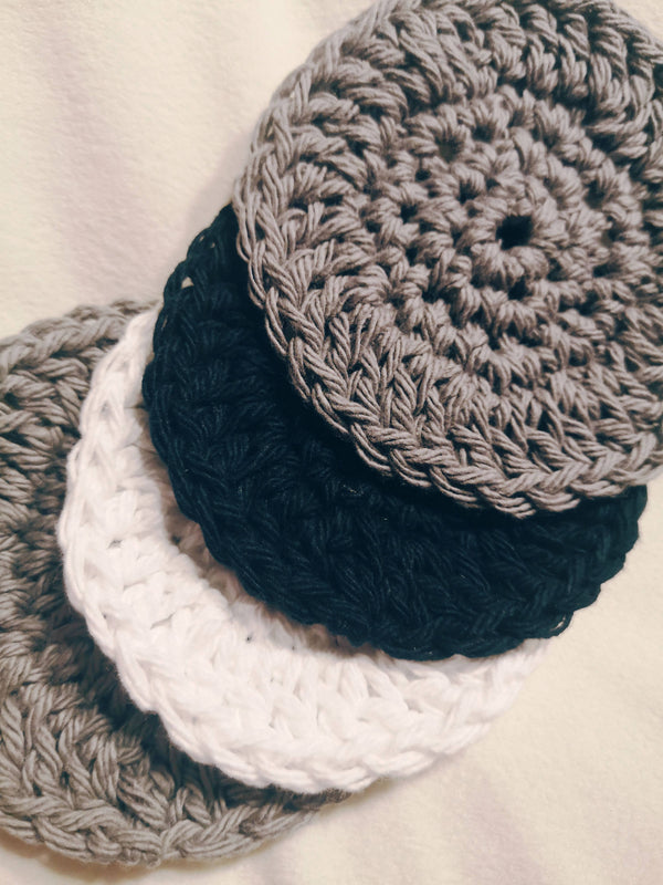 Reusable Face Scrubbies - monochromatic - Shop HamOnt
