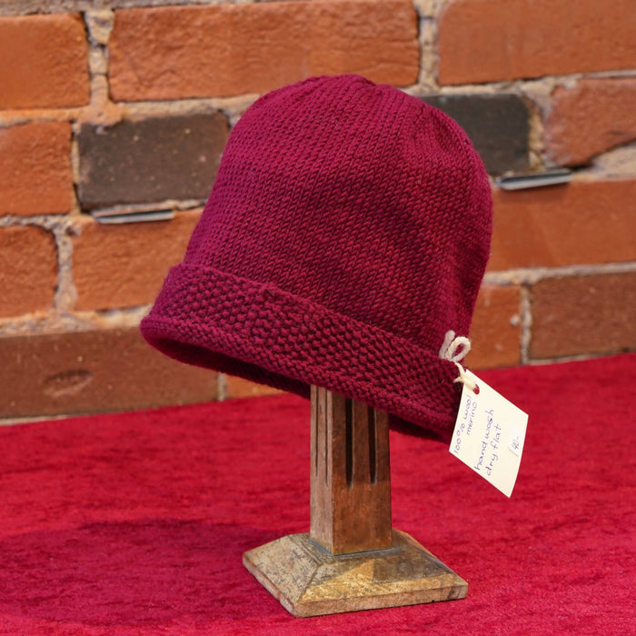 ellënoire Curly Safe Hats - Marsala Merino Toque