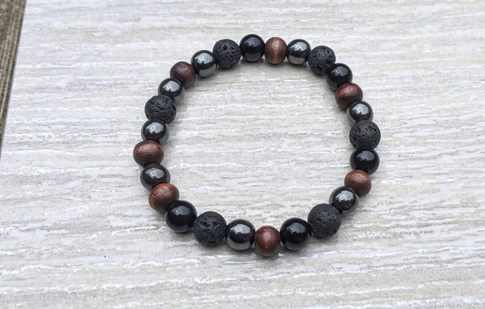 Mens Gemstone Bracelet/ Aromatherapy Bracelet * for Him *