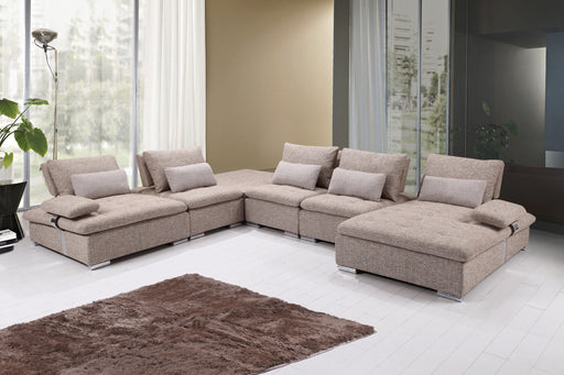 Monza - 6 PC Fabric Sectional