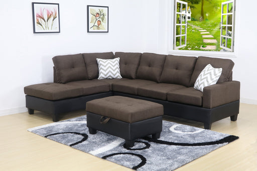 4657L -3 PC Solerno Sectional set with free ottoman