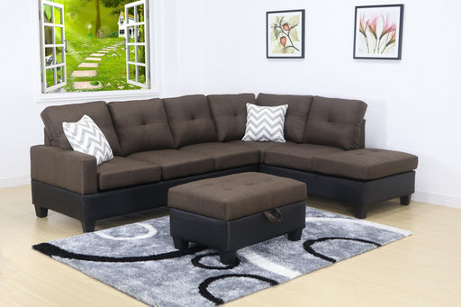 4657R -3 PC Solerno Sectional set with free ottoman