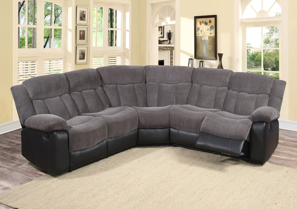 6638- 3 PC Reclining Sectional