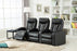 6639-PC Leather Gel Reclining Theater Set