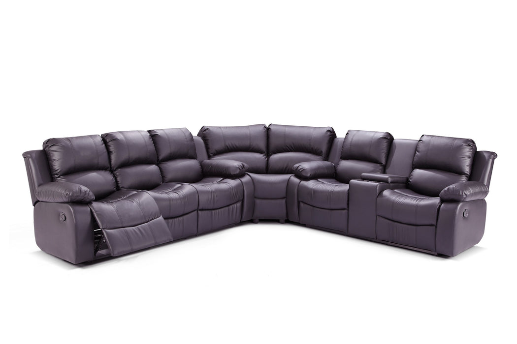 7218- 3 PC Bonded leather Sectional