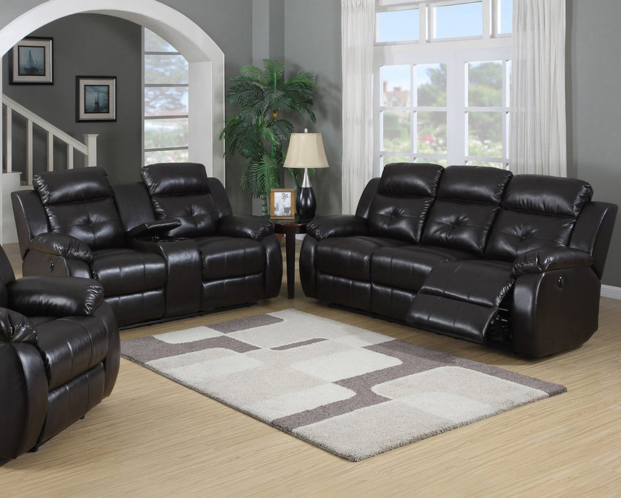 7548- 2PC Power Reclining sofa and loveseat.
