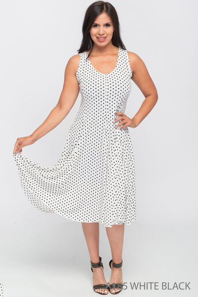 Marilyn Monroe Polka Dot Dress in White