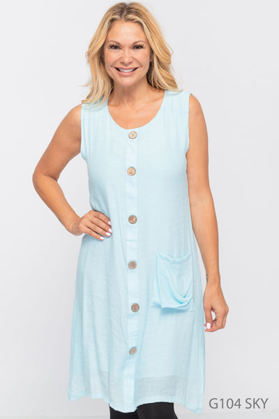 The Ashley Dress in Sky