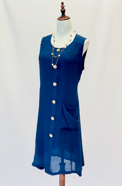 The Ashley Dress in Navy