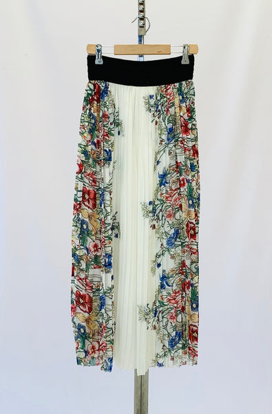The Linda Pleated Floral Skirt