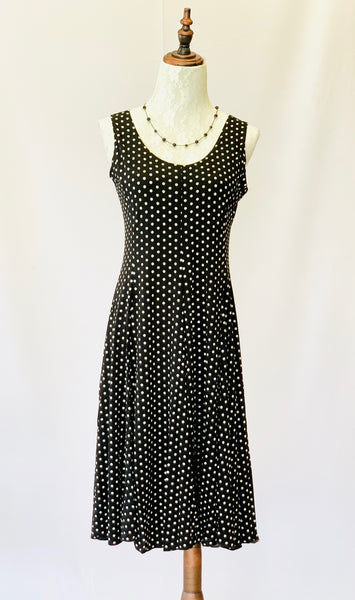 Marilyn Monroe Polka Dot Dress in Black