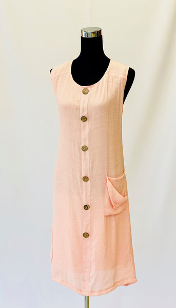 The Ashley Dress in Peach