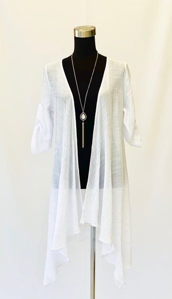 The Juliet Cardigan in White
