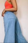 Peruvian Cotton Blue Wide Leg Pants