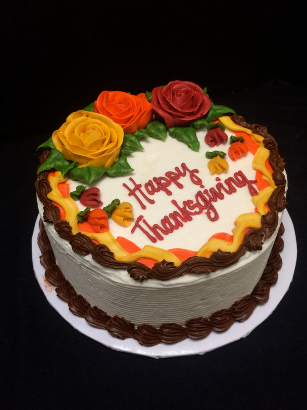 Happy Thanksgiving Party Cake