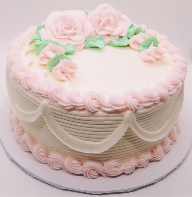 Pink Roses Party Cake