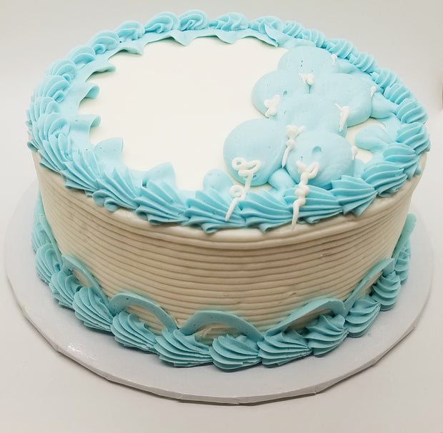 Blue Balloons Party Cake