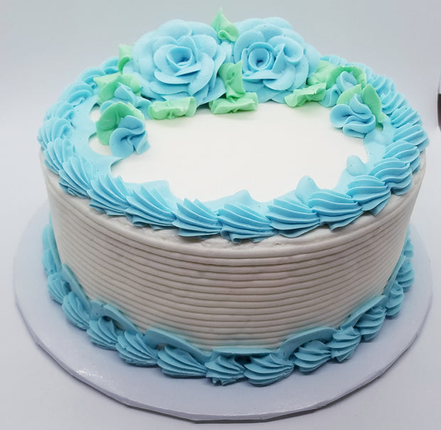 Blue Roses Party Cake