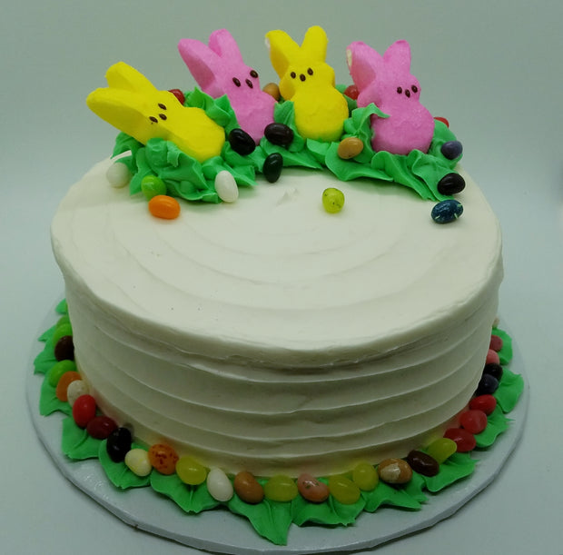 Easter 8 Inch Round Peep Cake