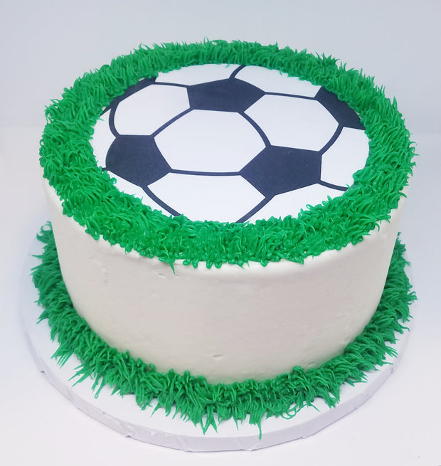 Soccer Party Cake