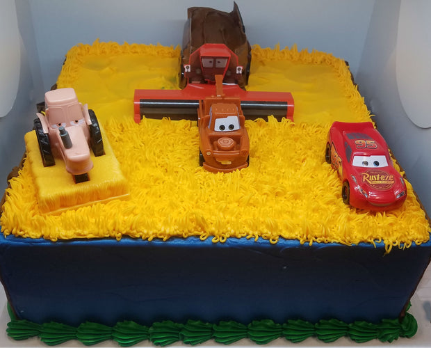 Cars kit Birthday Cake