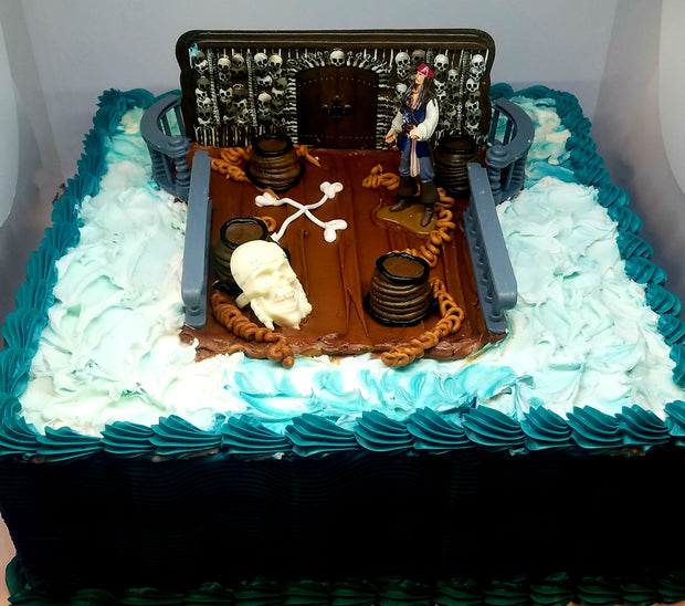 Pirates of the Caribbean kit Birthday Cake