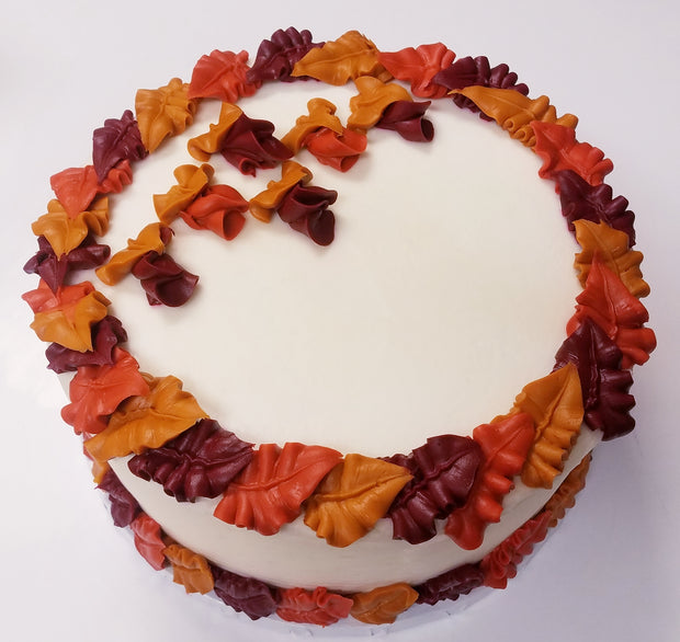 Fall Leaves Party Cake