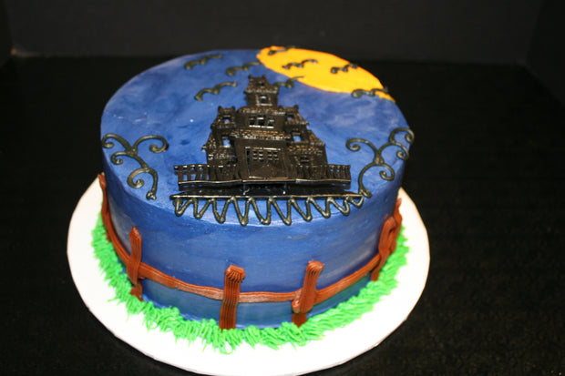 Haunted House Party Cake
