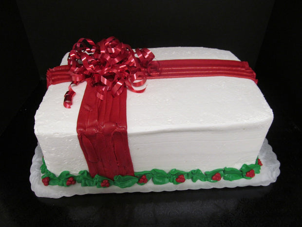 Wrapped Present Christmas Cake