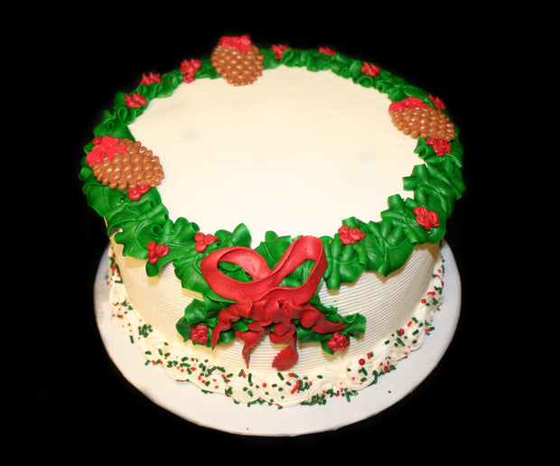 Wreath Christmas Cake