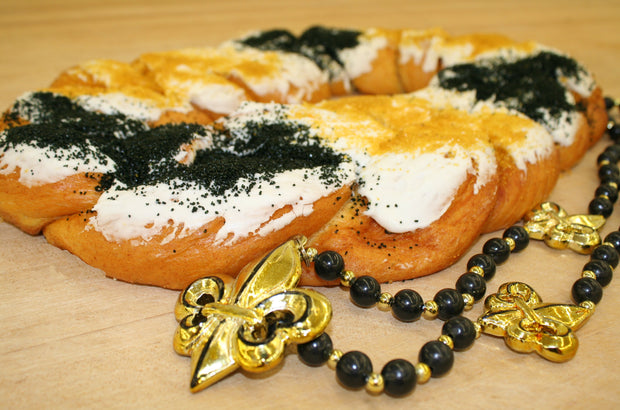 King Cake Black and Gold