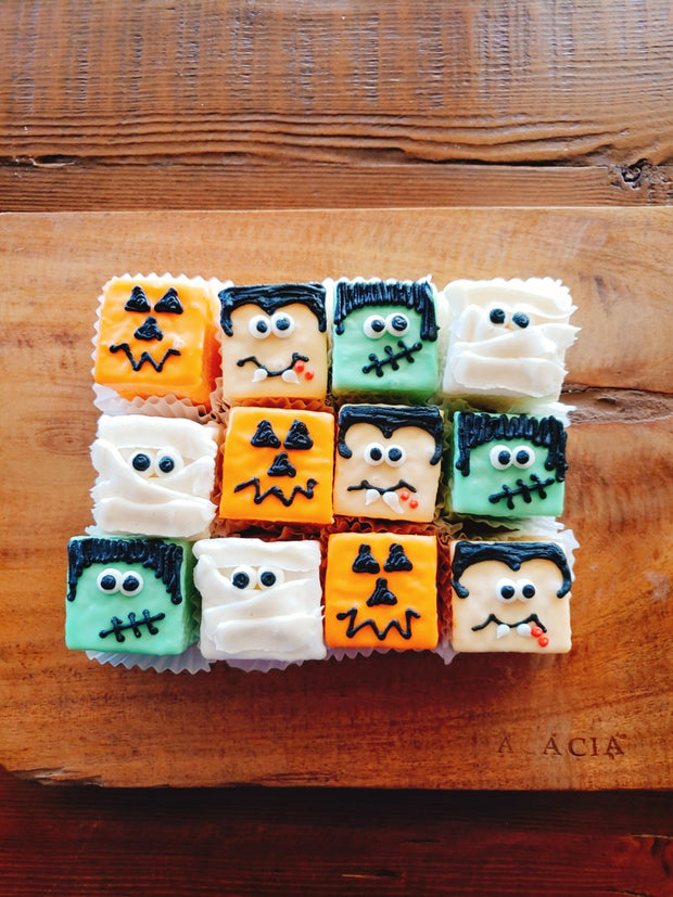 Petit Fours Almond Halloween Monsters